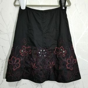 Axcess Liz Clairborne Floral Emrboidered Skirt
